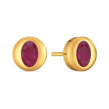 Cherry Carmine Gemstone Earrings
