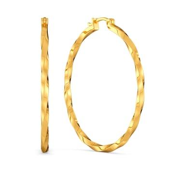 Twin Spin Gold Earrings