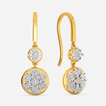 Dazzle N Loop Diamond Earrings