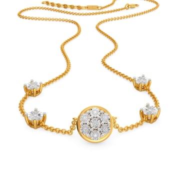 Dazzle N Loop Diamond Necklaces