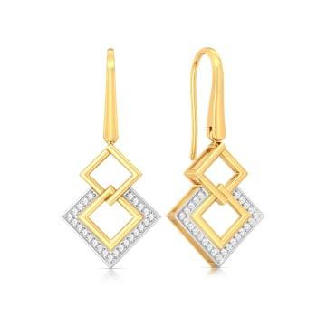Squared away Diamond Earrings
