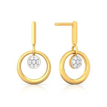 Sunflower Diamond Earrings