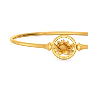 Lotus Dapple Gold Bangles
