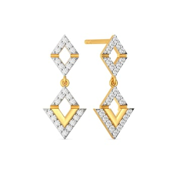 Light Lozenge Diamond Earrings