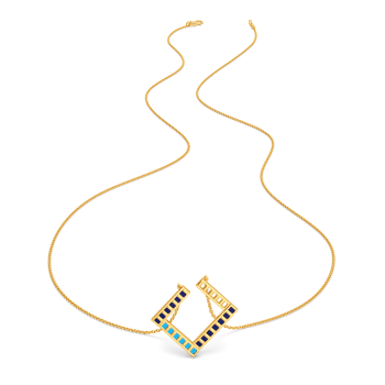 Parallel Ribbing Gold Necklaces