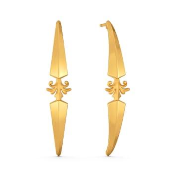 Victorian Dolls Gold Earrings