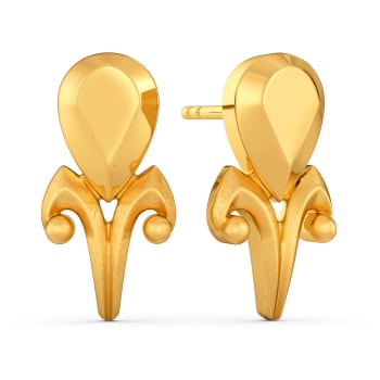 Victorian Dreams Gold Earrings