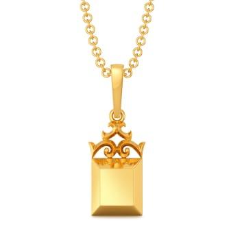 Victorian Swirls Gold Pendants