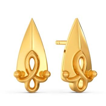Doll Dearest Gold Earrings