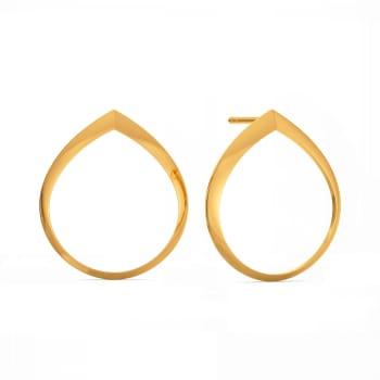 Balloon Drama Gold Earrings