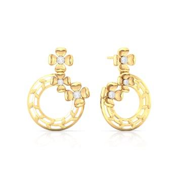 Ring o' Roses Diamond Earrings