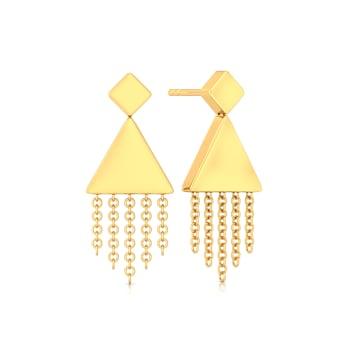 Fringe Swing Gold Earrings