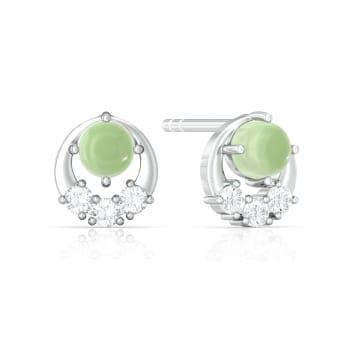 Green Sheen Diamond Earrings