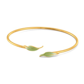 Leaf Land Gold Bangles