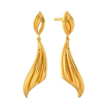 Deity Drapes Gold Earrings