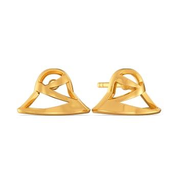 Bold Hats Gold Earrings