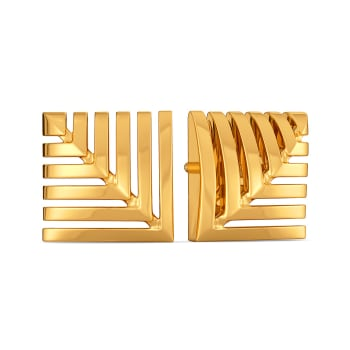 Skimpy Squares Gold Earrings