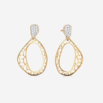 Lace It Up Diamond Earrings