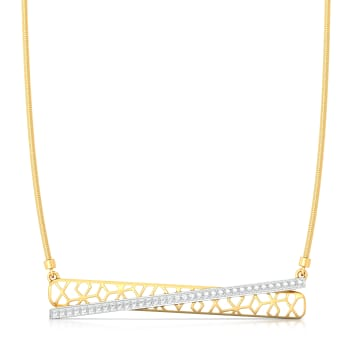 Crossover Lace Diamond Necklaces