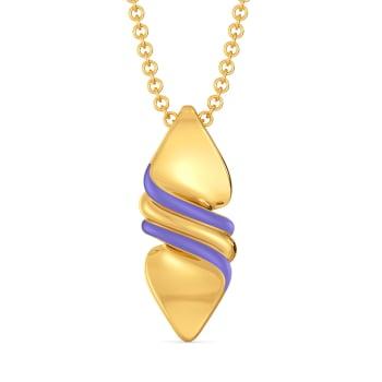 Lilac Palette Gold Pendants