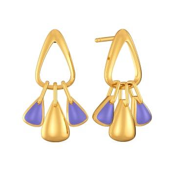 Millennial Purple Gold Earrings
