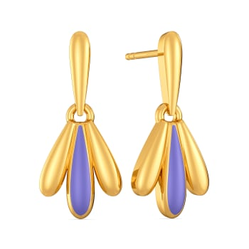 Pastel Hues Gold Earrings