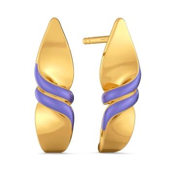 Powder Pastels Gold Earrings