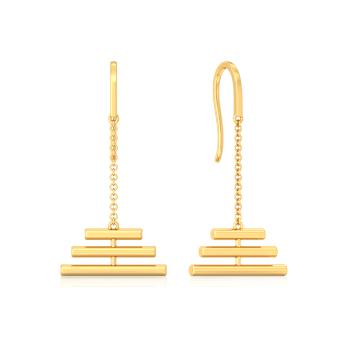 Tube Play Gold Earrings