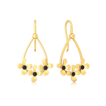 Floral Enigma Gold Earrings