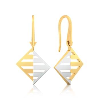 Double Dash Gold Earrings
