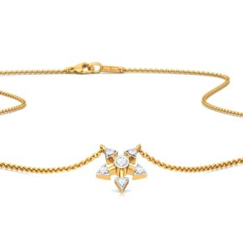 Paddle Wheel Cradle Diamond Necklaces