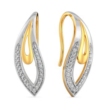 Paisley Petals Diamond Earrings