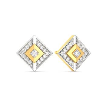 The Three Fold Diamond Earrings