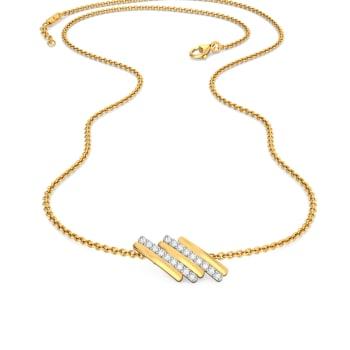 Tilt Lilt Diamond Necklaces