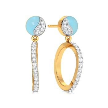 Morning blue Diamond Earrings