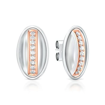 Orbital Pink Diamond Earrings