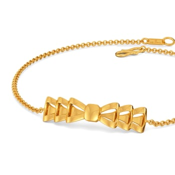 Bows Untangled Gold Bracelets