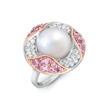 Pink Oyster Diamond Rings