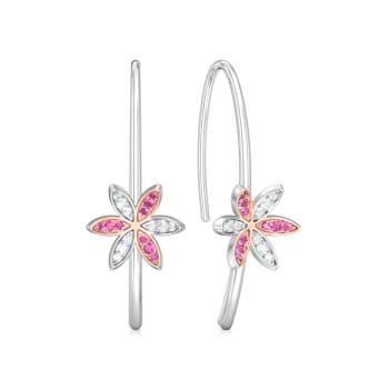 Pink Jasmine Diamond Earrings