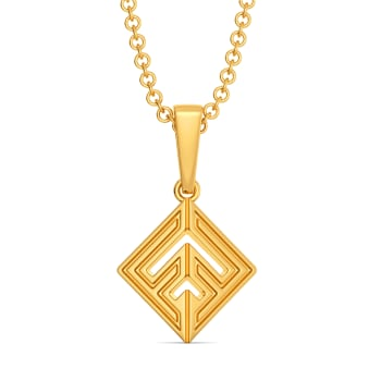 Short Styled Gold Pendants