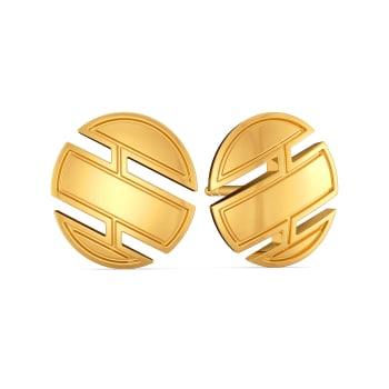 Cool Cuts Gold Earrings