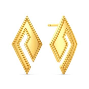 Baggy Bermuda Gold Earrings