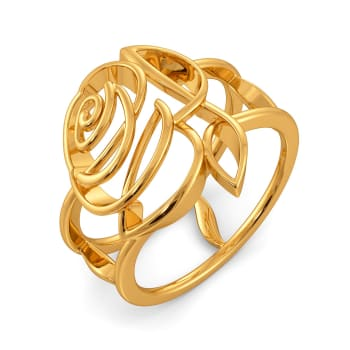 Rose Rules Gold Rings