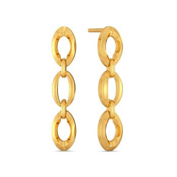 Twisted Tales Gold Earrings