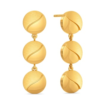 9 to 9 Sequins Gold Earrings