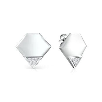 Polygon Diamond Earrings