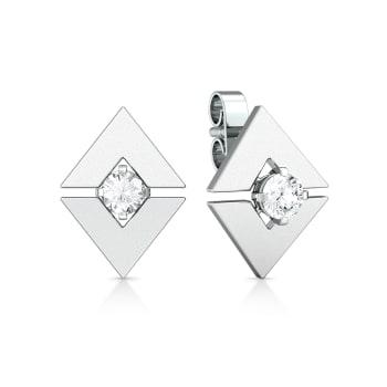 Mirror image Diamond Earrings