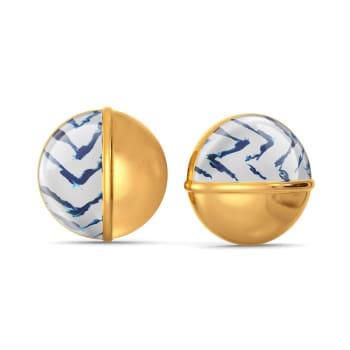 Dyed in Blue Gold Earrings