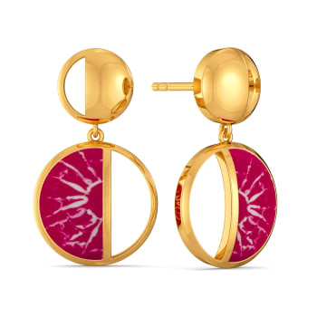 Dyed in Pink Gold Earrings