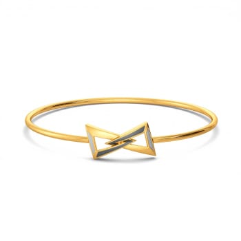 Grey Hierarchy Gold Bangles